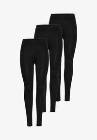 ONLY - 3 PACK  - Leggings - schwarz (black) - 4