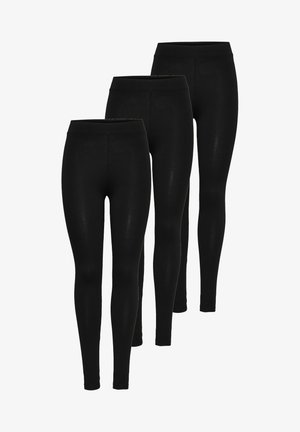 3 PACK  - Leggings - schwarz (black)