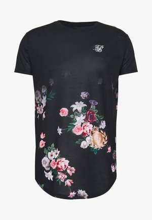 PRESTIGE FLORAL FADE TEE - T-shirt con stampa - black