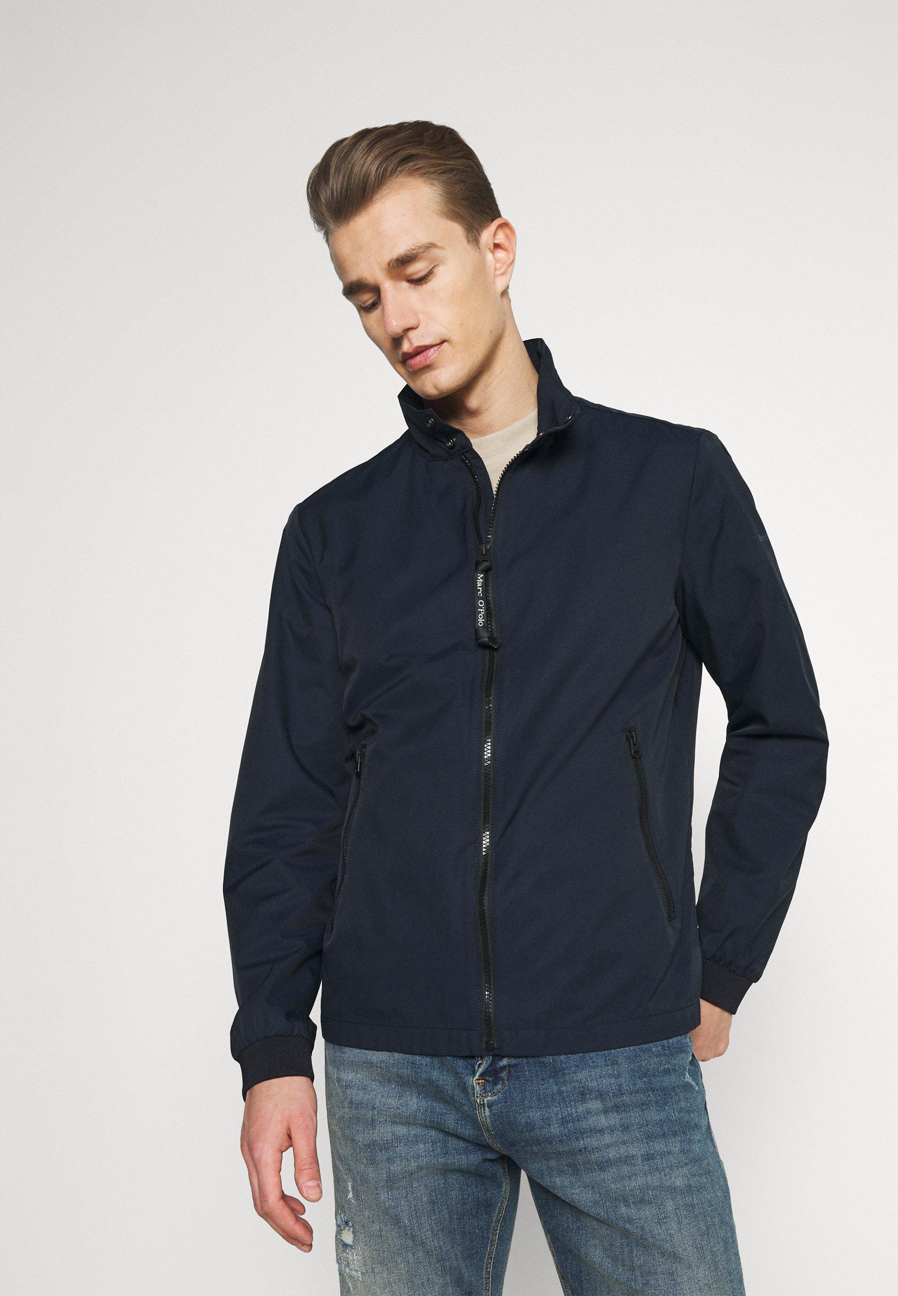 Men JACKET REGULAR FIT STAND UP COLLAR - Summer jacket
