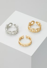 Pieces - PCMILBA 3 PACK - Ring - gold-coloured/silver-coloured - 0