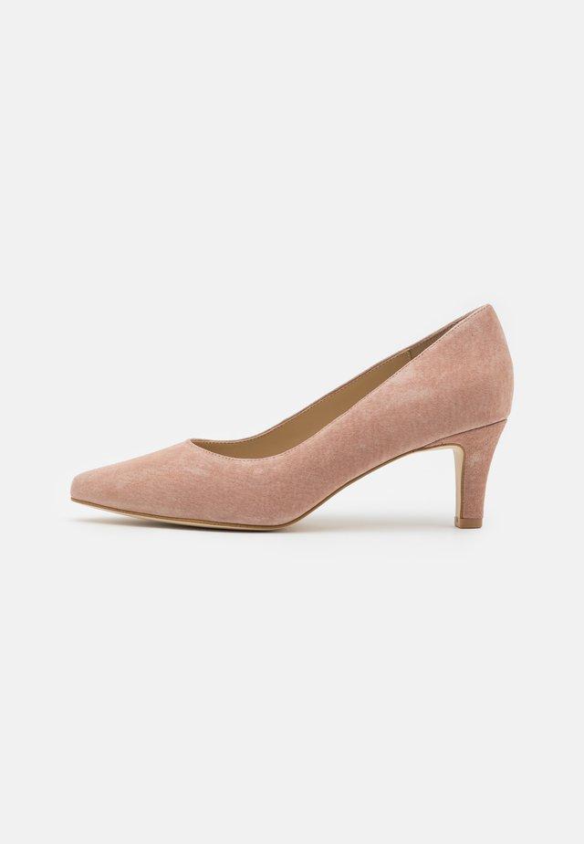 LEATHER COMFORT - Classic heels - beige