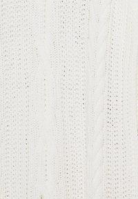 Object - OBJAVA ROLLNECK DRESS - Gebreide jurk - gardenia - 2