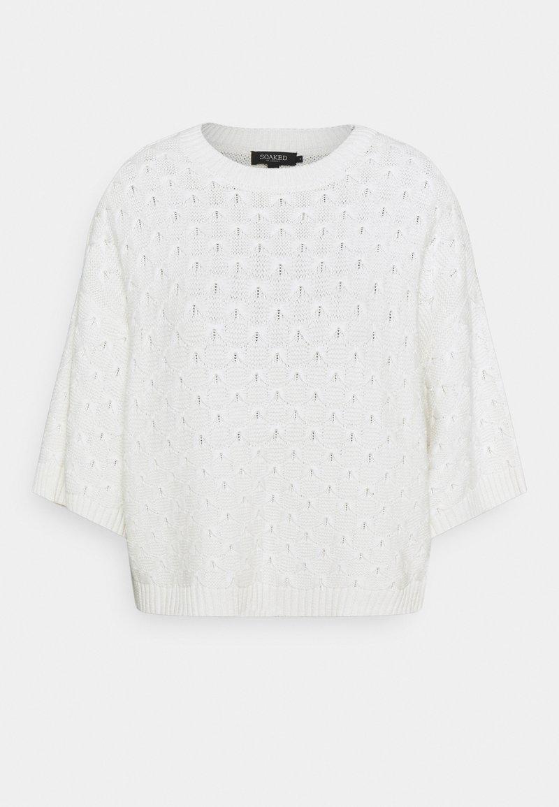 Soaked in Luxury - ROSALIE - Stickad tröja - whisper white
