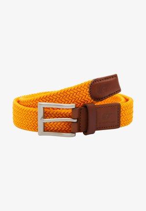 Gevlochten riem - orange