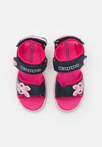 Kappa - Walking sandals - navy/pink - 3