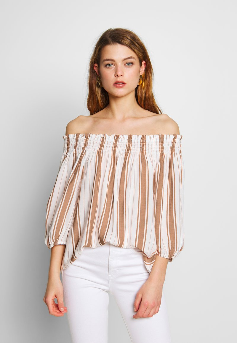 Superdry - DESERT OFF SHOULDER - Blouse - orange