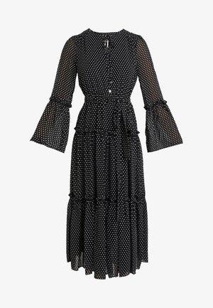 TIERED BOHO DRESS - Day dress - black/bone