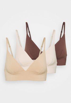 3 PACK - Triangel-BH - nude