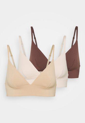 3 PACK - Triangle bra - nude