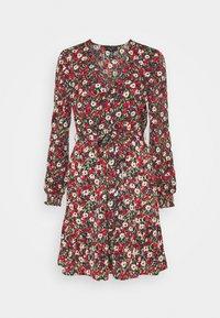 New Look Tall - ELLA FLORAL WRAP TEA DRESS - Day dress - black pattern - 0