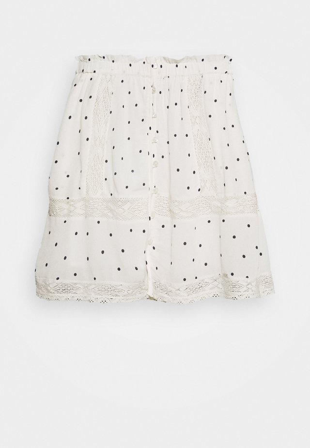 ELLISON TEXTURED SKIRT - Mini skirt - white