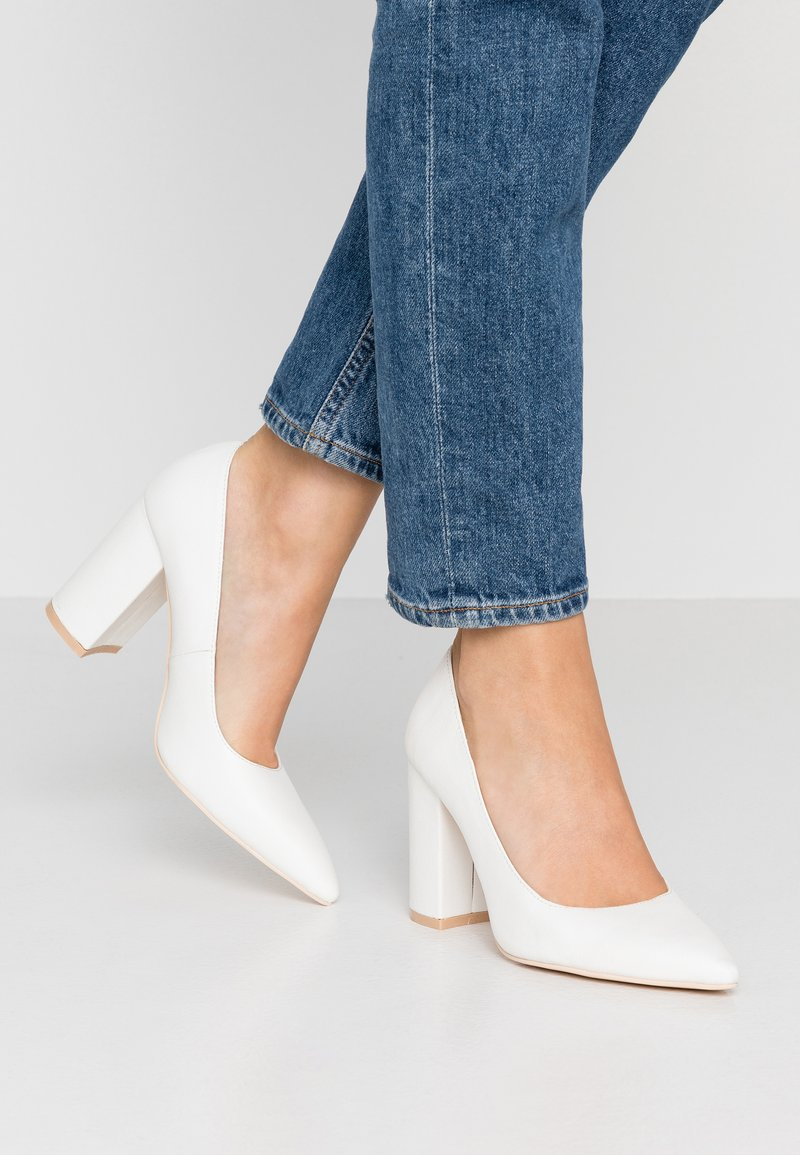Nly by Nelly - BLOCK SLIM - Bridal shoes - white