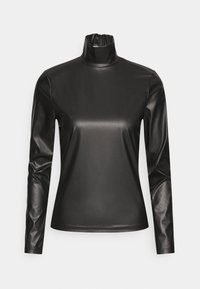 Who What Wear - TURTLENECK - Long sleeved top - black - 4