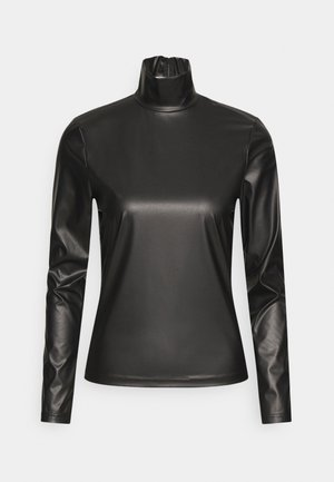 TURTLENECK - T-shirt à manches longues - black