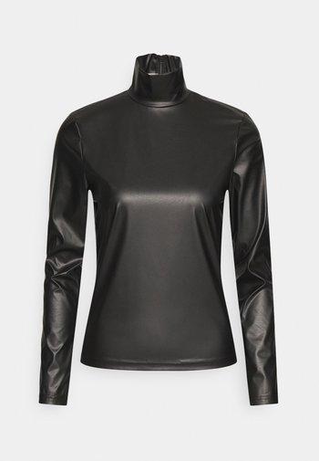 TURTLENECK - T-shirt à manches longues - black