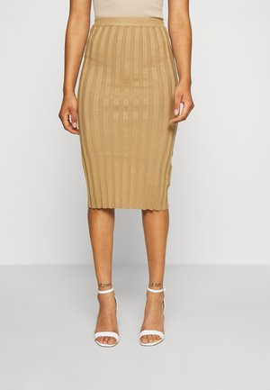 EXTREME MIDI SKIRT - Pencil skirt - brown