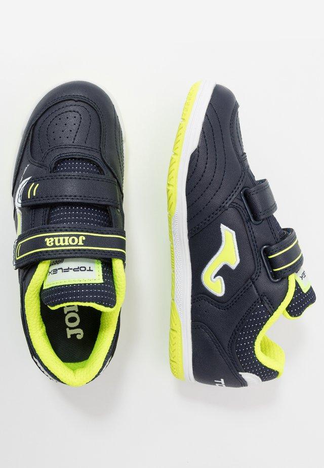 TOP FLEX JUNIOR - Indoor football boots - black/yellow