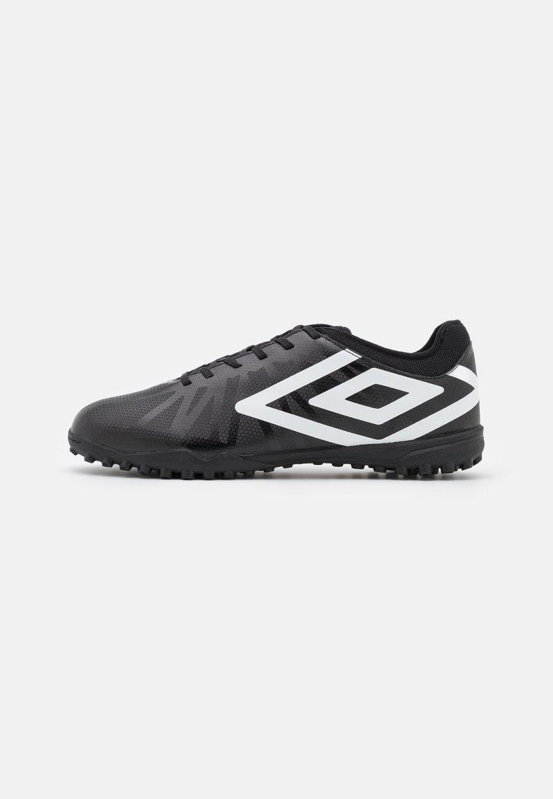 Umbro - VELOCITA VI CLUB TF - Astro turf trainers - black/white/cyan blue