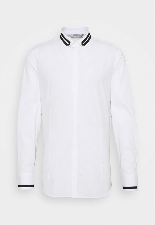 TUXEDO GROGRAIN TAPE COLL - Shirt - white/black