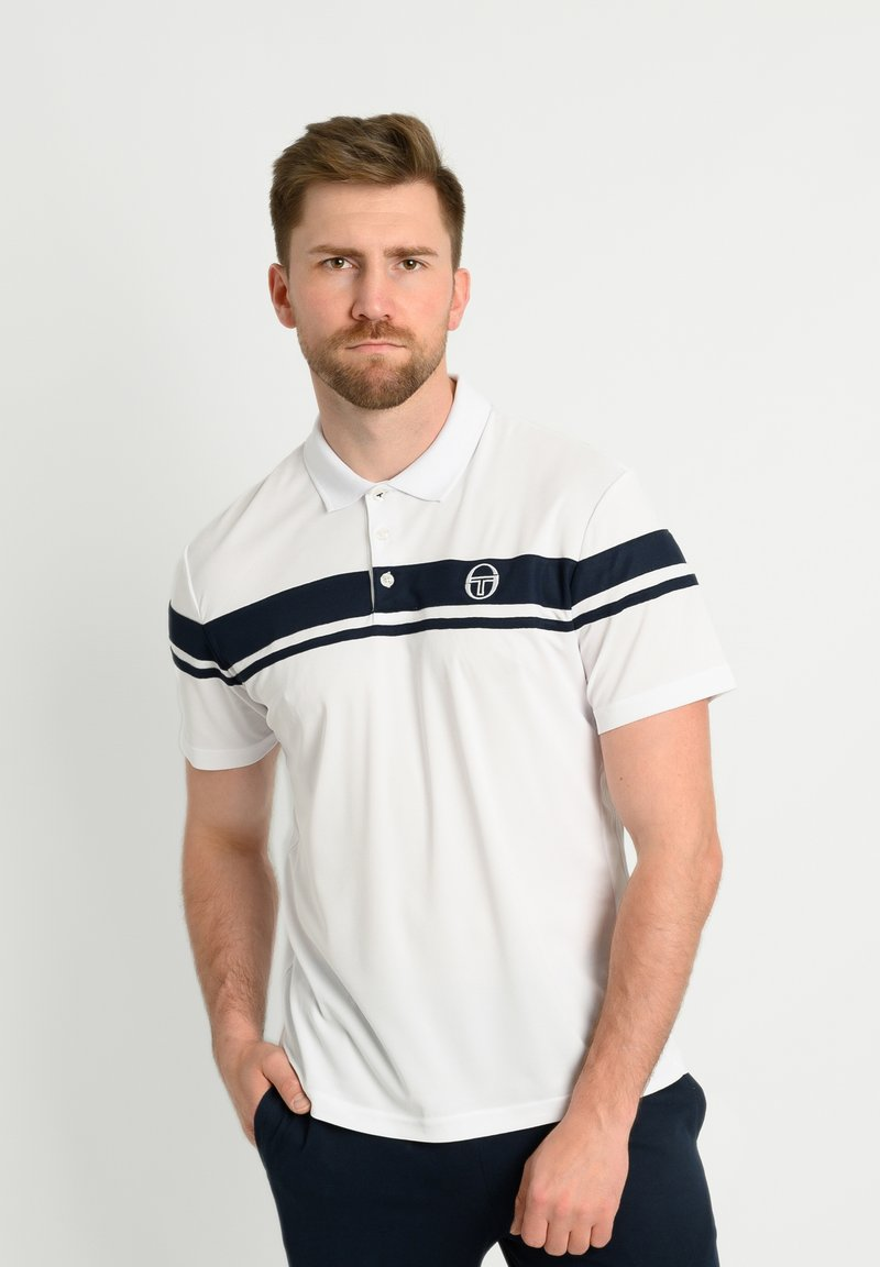 sergio tacchini - YOUNG LINE - Polo shirt - white/navy