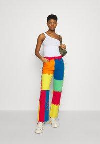 Jaded London - PATCHWORK BOYFRIEND WITH FRAYED SEAMS - Jeans straight leg - multi - 1
