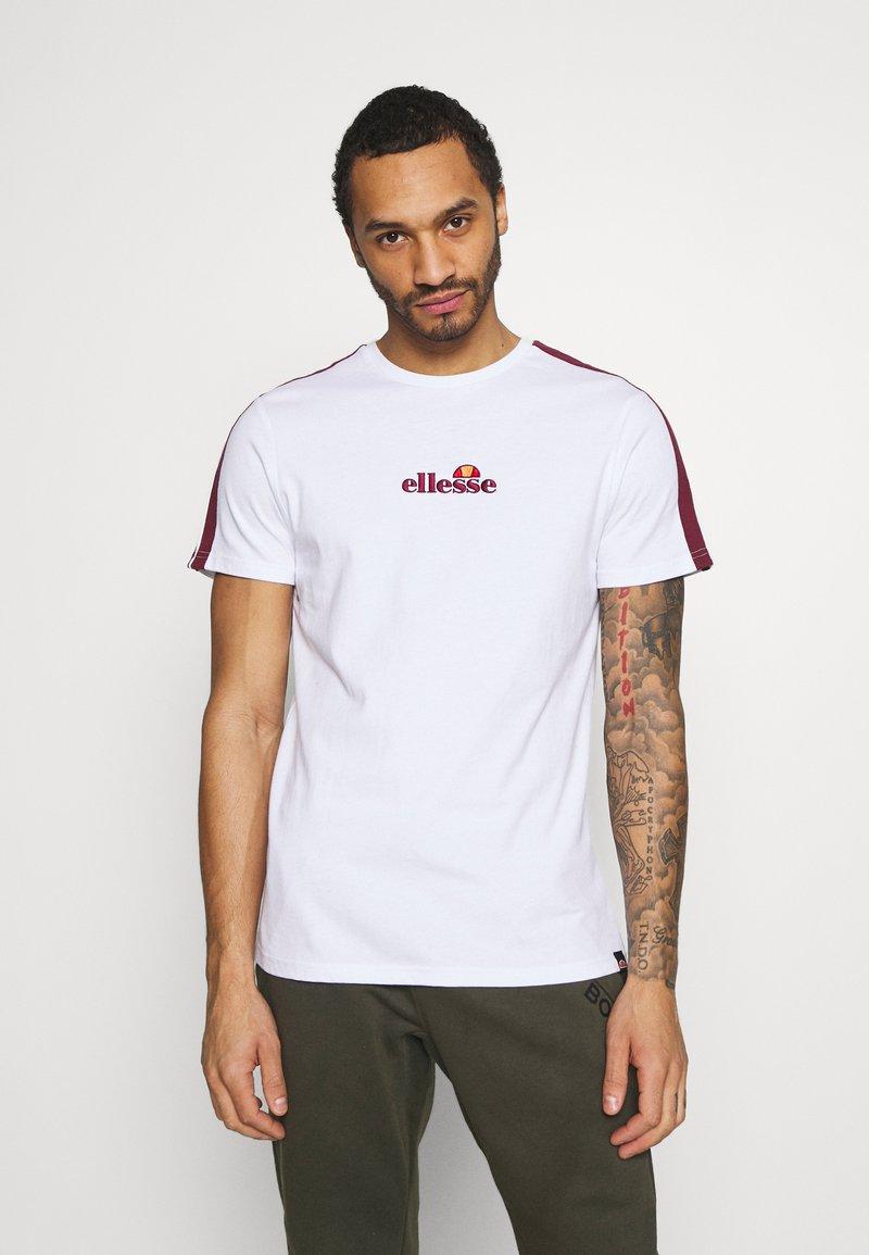 Ellesse - CARCANO - T-shirt imprimé - white