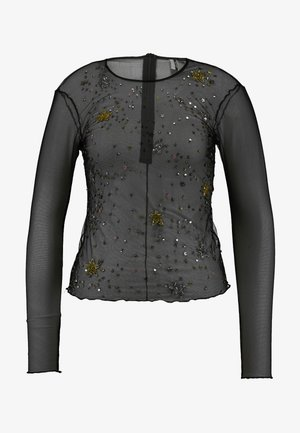 STAR SQUIN - Long sleeved top - black