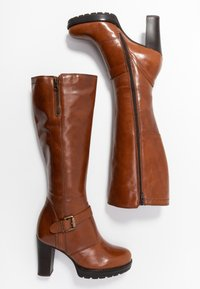 Anna Field - LEATHER BOOTS - High heeled boots - cognac - 3