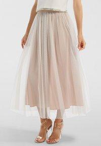 Apart - A-line skirt - creme-nude - 0