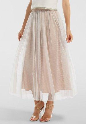A-line skirt - creme-nude