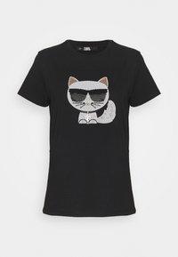 KARL LAGERFELD - IKONIK CHOUPETTE  - Print T-shirt - black - 0
