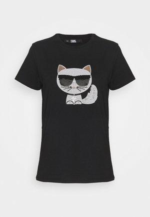 IKONIK CHOUPETTE  - T-shirt z nadrukiem - black