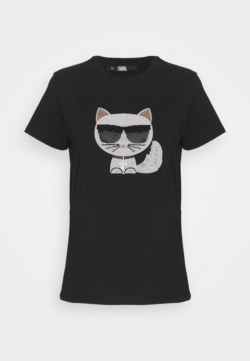 KARL LAGERFELD - IKONIK CHOUPETTE  - Print T-shirt - black