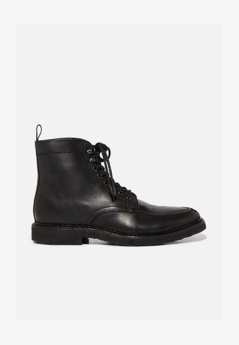 AllSaints - INDIANNA  - Lace-up ankle boots - black