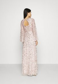 Maya Deluxe - ALL OVER 3D EMBELLISHED DRESS WITH BELL SLEEVE - Iltapuku - pearl pink - 2