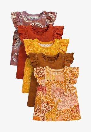 5 PACK  - T-shirts print - orange