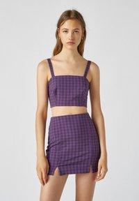 PULL&BEAR - Blouse - dark purple - 0