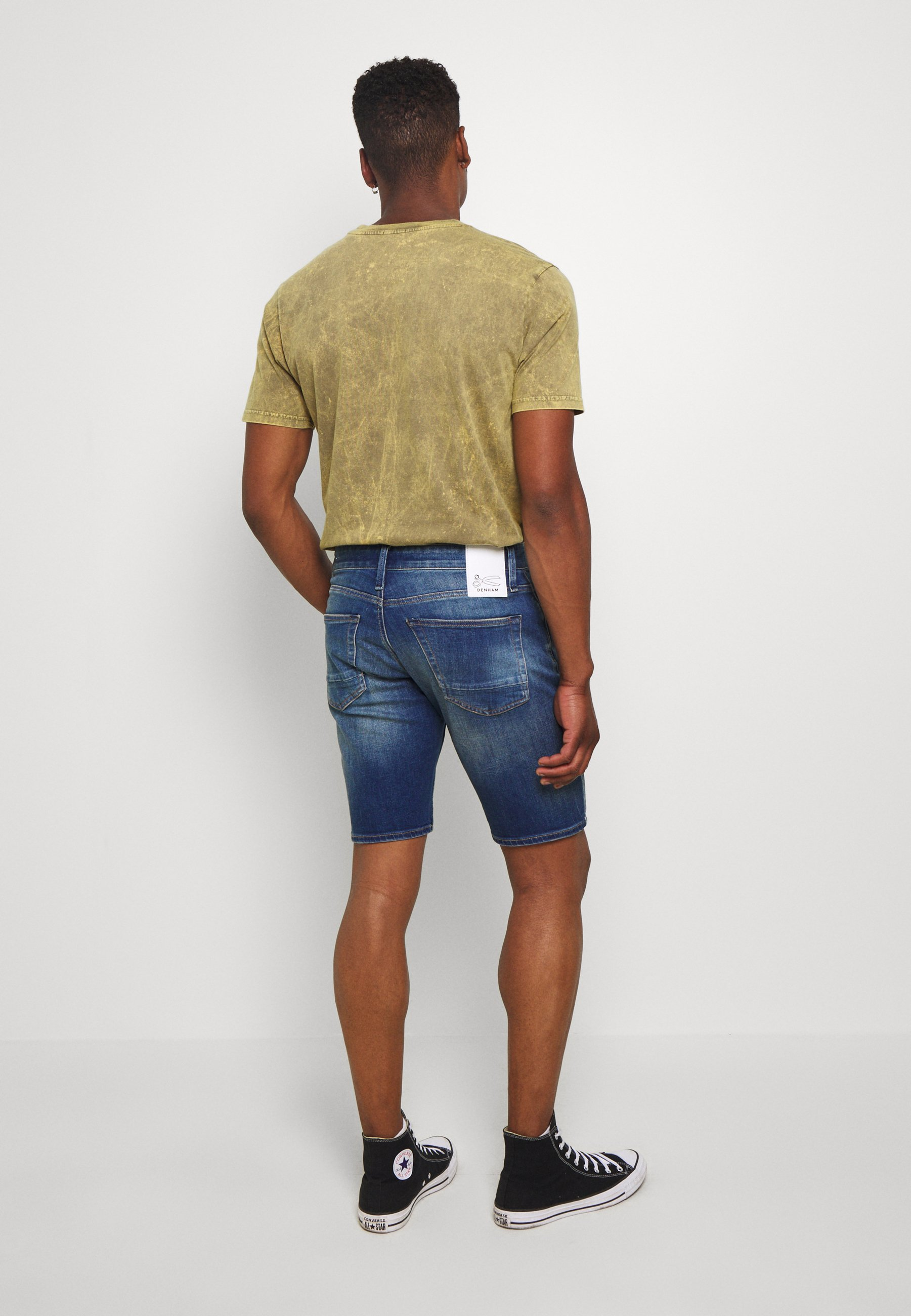 De Confianza Ropa de hombre Denham RAZOR Shorts vaqueros blue GKK4oS