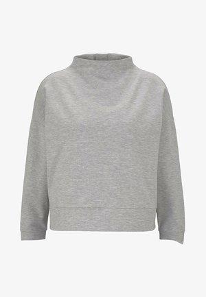 MIT HEMD-UNDERLAYER - Sweatshirt - light stone grey melange