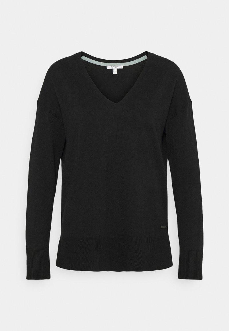 Esprit - VNECK  - Sweter - black