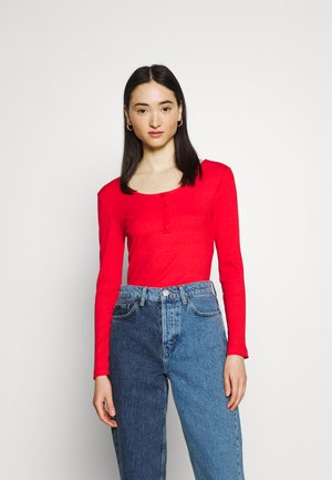 ONLSIMPLE LIFE BUTTON - Long sleeved top - high risk red