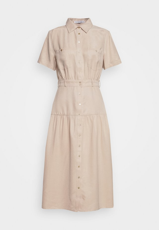 LE MODE MIDI DRESS - Skjortklänning - cream