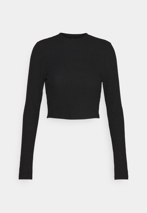 ONLNELLA CROPPED O NECK  - Topper langermet - black