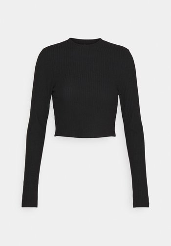 ONLNELLA CROPPED O NECK  - Long sleeved top - black