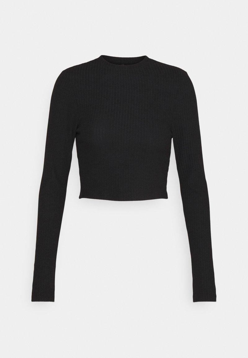 ONLY - ONLNELLA CROPPED O NECK  - Långärmad tröja - black