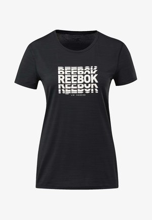 ACTIVCHILL GRAPHIC TEE - Print T-shirt - black