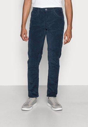 PANTS CORDUROY - Pantalon classique - dress blues