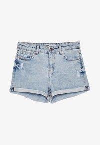 Bershka - Denim shorts - dark blue - 6