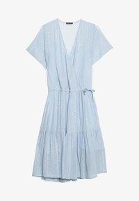 LING - Day dress - dusty silver blue